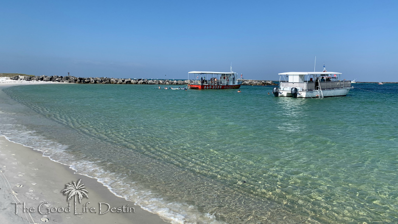 Snorkeling Boats at the Destin Jetties