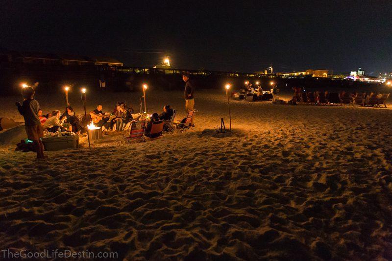 Beach Bonfire In Destin And 30a
