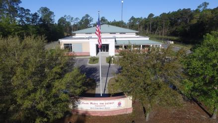 A picture of the South Walton Fire District in Santa Rosa Beach, Florida. This is the place to obtain a permit for your beach bonfire